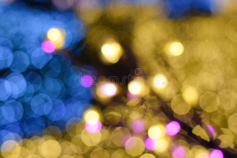 Bokeh de fond d'arbre de lumière de colorfull photos stock