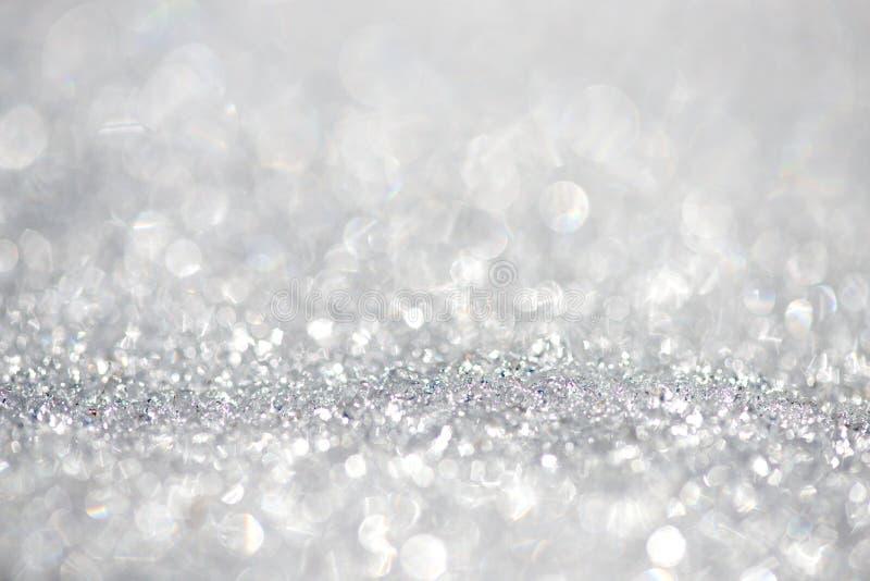 Bokeh de fond de neige - foyer peu profond, l'espace pour le texte photos stock