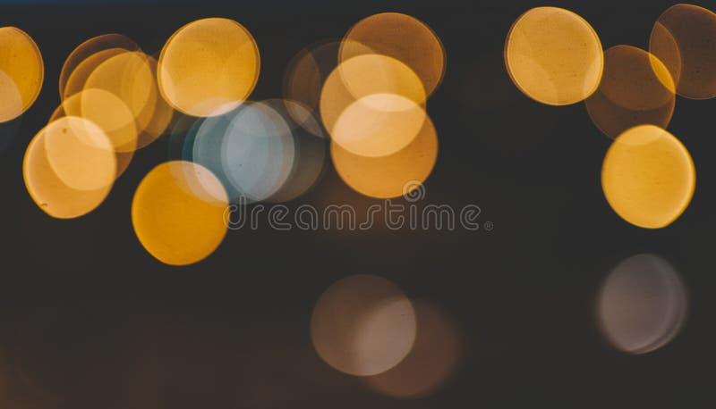 Bokeh de la calle de la noche foto de archivo libre de regalías