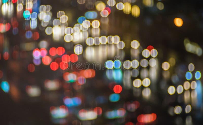 Bokeh de la falta de definición con el fondo colorido de las luces fotografía de archivo libre de regalías