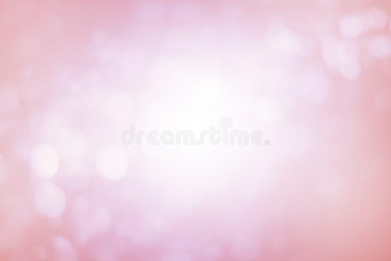 Bokeh de la falta de definición suave y fondo rosados abstractos de la Navidad, pendiente fotografía de archivo