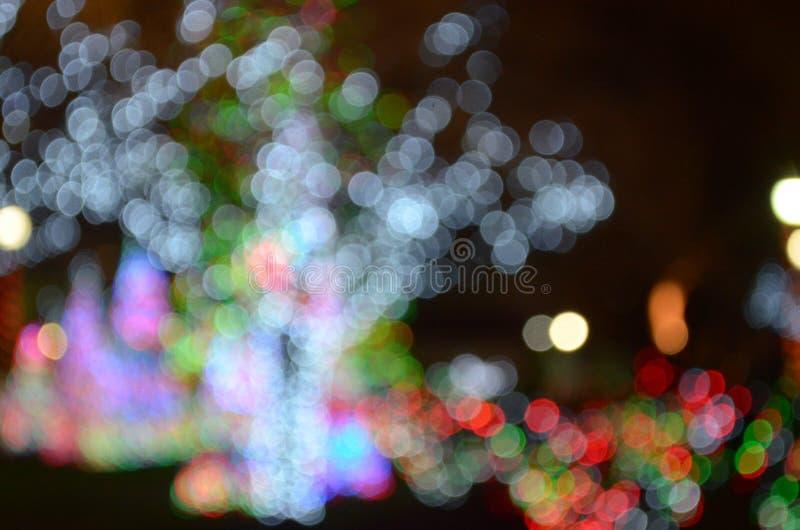 Bokeh de la luz de la Navidad