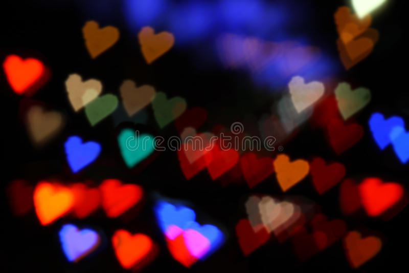 Bokeh de los corazones colorido foto de archivo libre de regalías