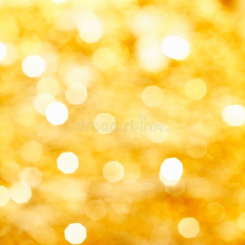 Bokeh de luces de oro foto de archivo libre de regalías