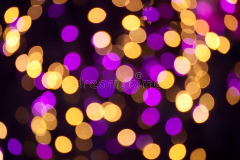 Bokeh de lumière de Noël photographie stock libre de droits