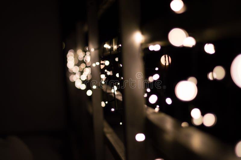 Bokeh de lumières de Noël image stock