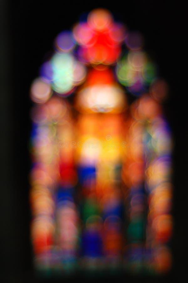 Bokeh de una ventana de la catedral imágenes de archivo libres de regalías