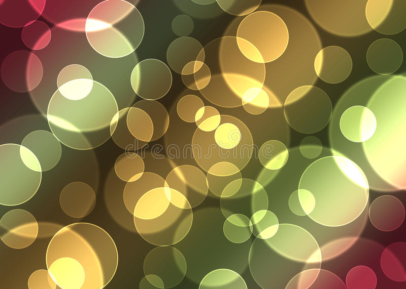 Bokeh. Defocused lights background, bokeh abstract royalty free illustration