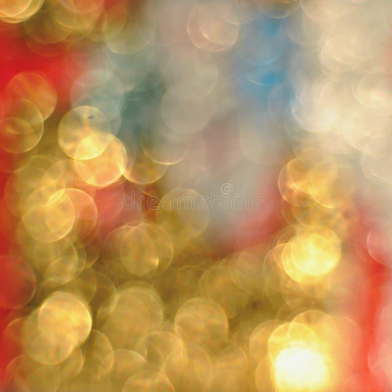 Bokeh defocused złoci światła, abstrakcjonistyczny tło obrazy stock