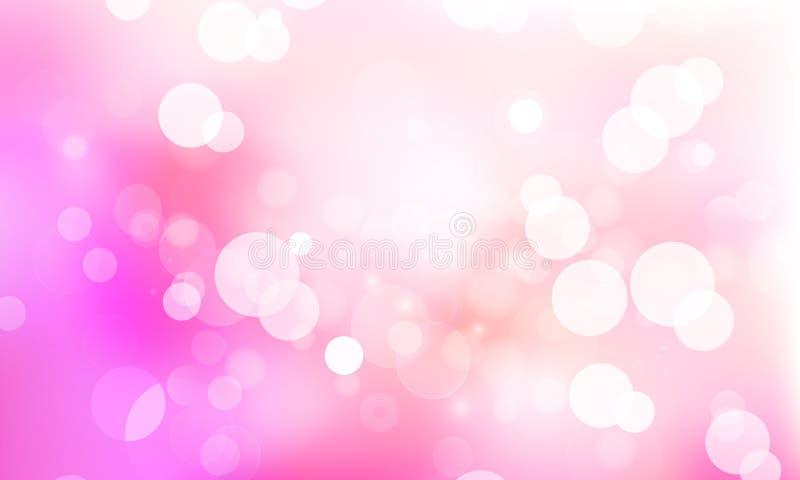 Bokeh del fondo vago rosa illustrazione di stock