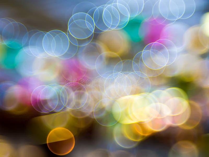 Bokeh della luce notturna di colore, fondo vago immagine stock