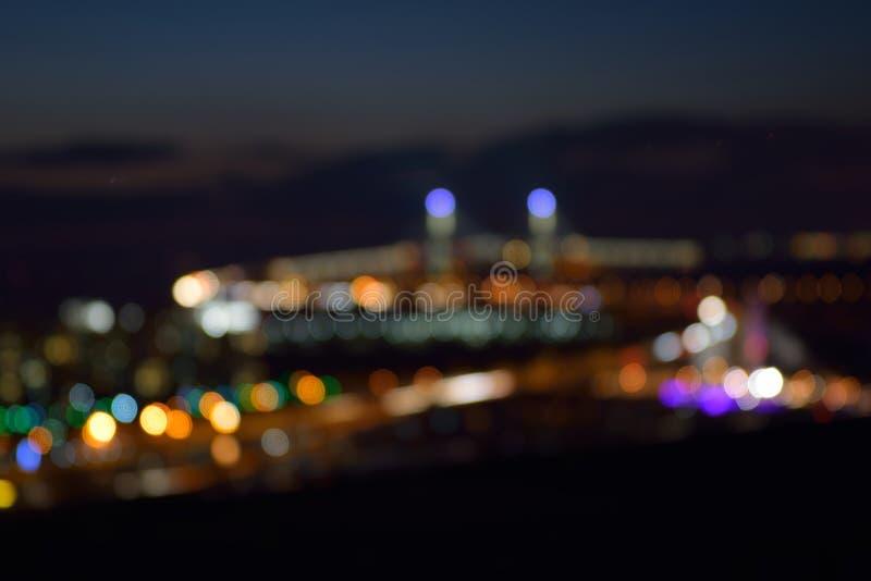 Bokeh der Nachtstadt lizenzfreie stockbilder