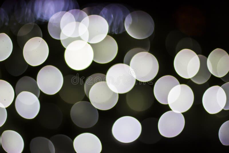 Bokeh des lumières saisonnières images libres de droits