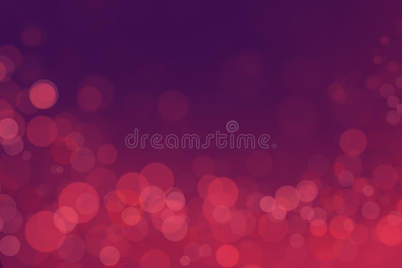 Bokeh di miracolo con il fondo rosa di pendenza immagini stock libere da diritti