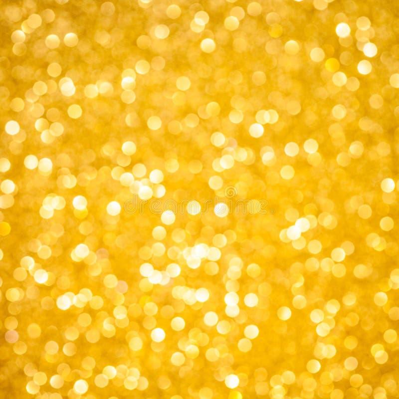 Bokeh do Natal do ouro imagem de stock royalty free