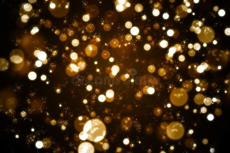 Bokeh dourado ilustração stock