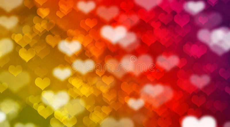 Bokeh e corações fotografia de stock