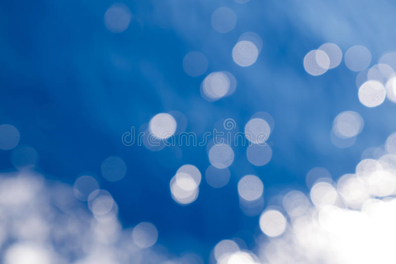 Water bokeh in the sea. Bokeh effect on a seawater surface with waves stock photo