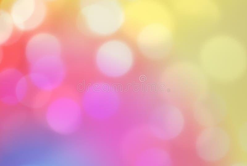 Bokeh empañó el fondo colorido abstracto, luz defocused fotos de archivo