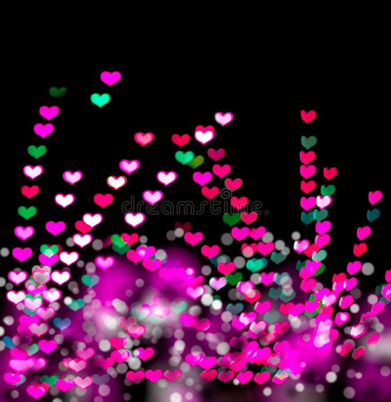 Download Bokeh en forma de corazón foto de archivo. Imagen de iluminación - 42428354