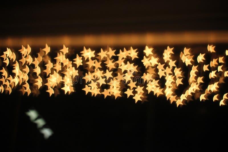Bokeh en forme d'étoile prêt pour votre recouvrement de conception image libre de droits