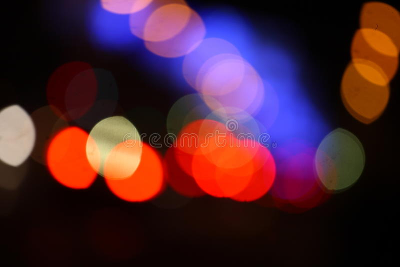 Bokeh entoure des lumières photographie stock