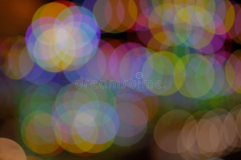 Bokeh färgrika och pastellfärgade färger royaltyfri bild