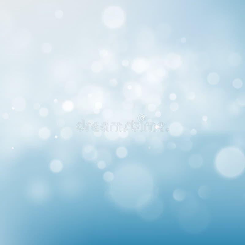 Bokeh för blå himmel att blänka abstrakt bakgrund för defocused ljus 10 eps royaltyfri illustrationer