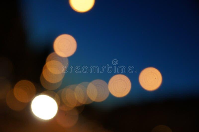 Bokeh för gataljus arkivfoto