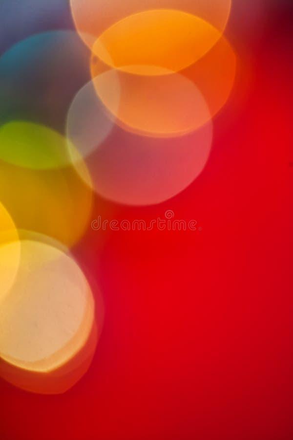 Bokeh för jul för Copyspace bild mångfärgad royaltyfri foto