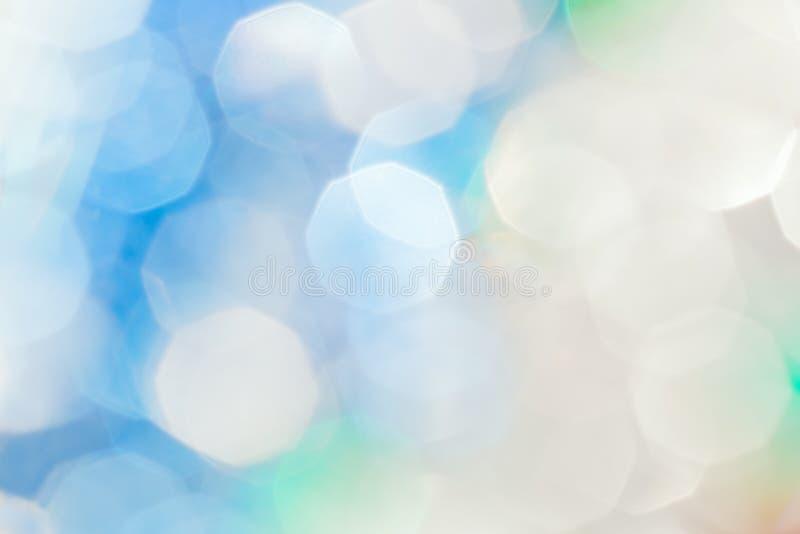 Bokeh festivo blu e bianco di Natale fotografie stock libere da diritti