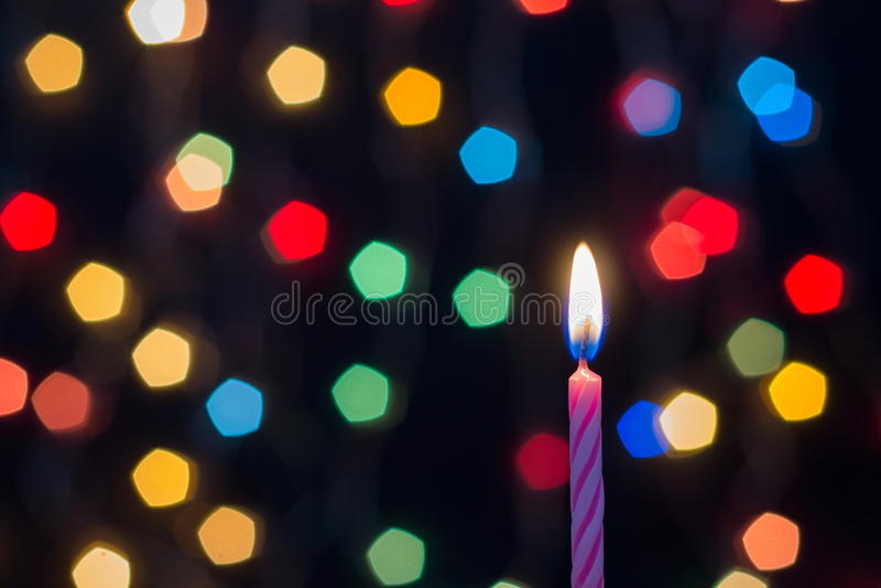 Bokeh fo光和蜡烛 免版税图库摄影