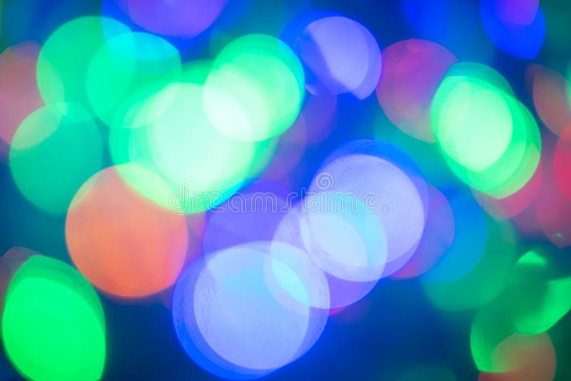 Bokeh Fondo enmascarado Luces coloreadas festivas imágenes de archivo libres de regalías
