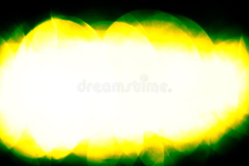 Bokeh giallo verde astratto di estate fotografia stock