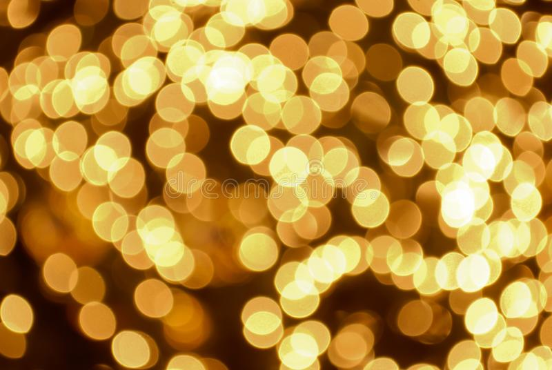 Bokeh gold color abstract. Background stock images