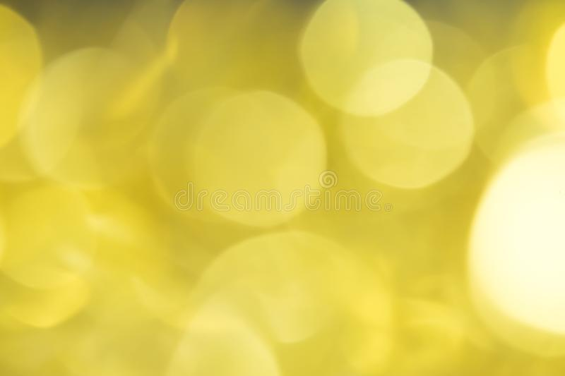 Bokeh golden background beautiful. Conception Christmas stock photography