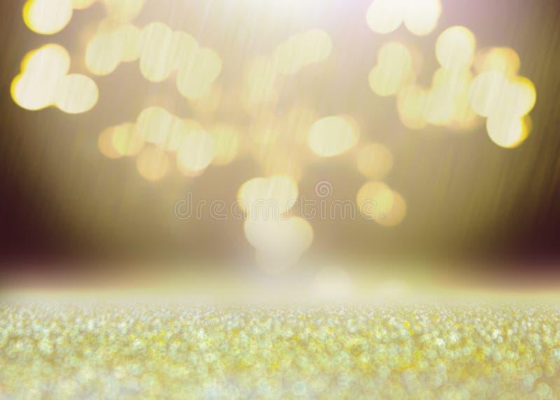 Bokeh gosta da explosão Sumário do fundo brilhante e efervescente do bokeh Iluminação borrada da textura do brilho Gli de brilho  ilustração stock