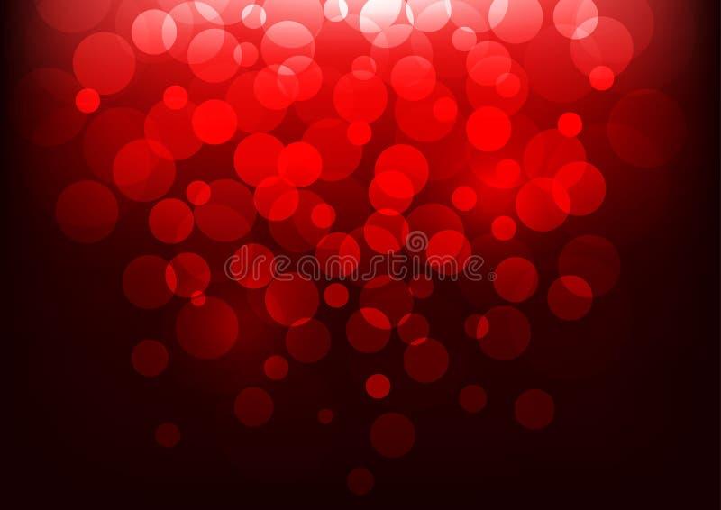 Bokeh-Hintergrund mit rotem Licht Auch im corel abgehobenen Betrag stock abbildung