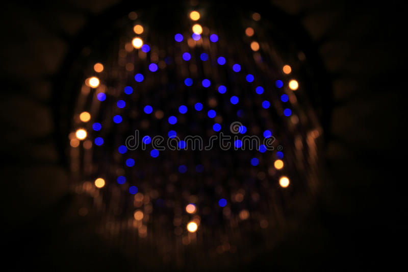 Bokeh lampor royaltyfri bild