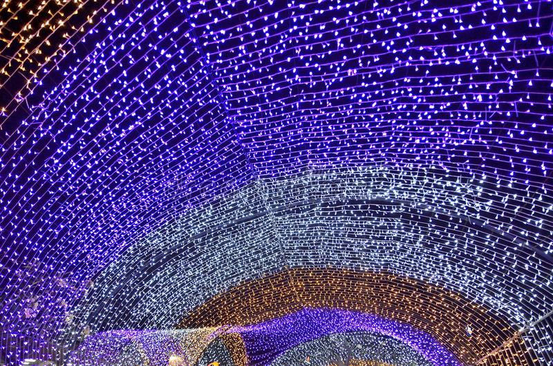 bokeh leggero variopinto e Natale fotografia stock libera da diritti