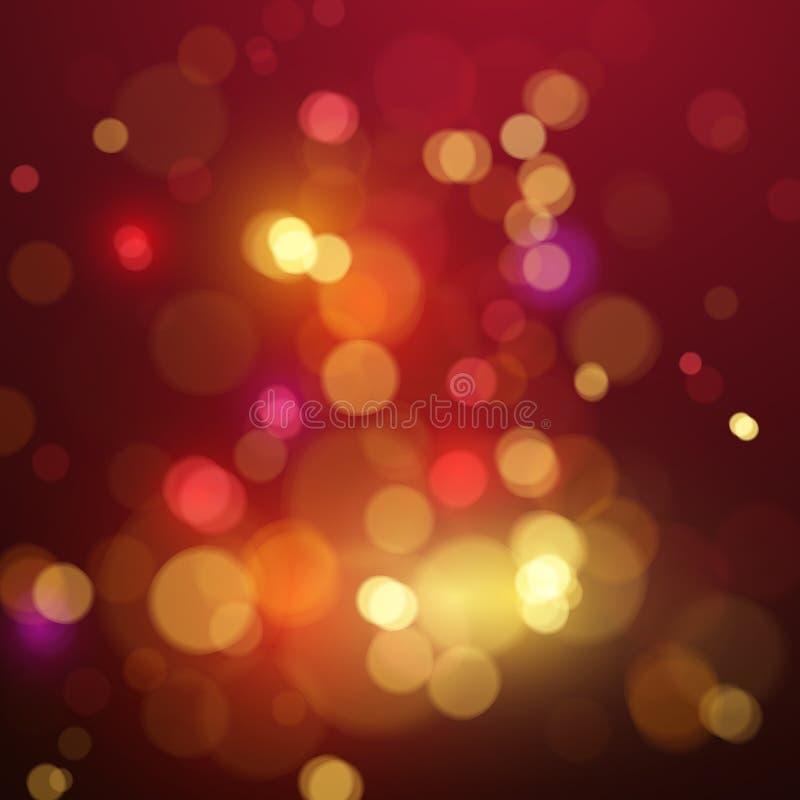 Bokeh Leuchte Schimmernde bunte Unschärfescheinwerferlichter Abstrakter vektorhintergrund vektor abbildung