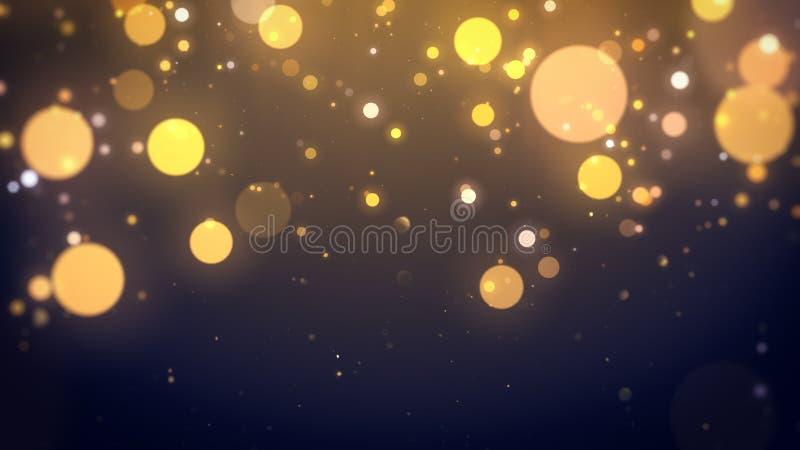 Bokeh-Licht-Goldabstrakter Hintergrund lizenzfreie abbildung