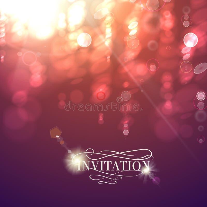 Bokeh lichte uitstekende achtergrond. vector illustratie