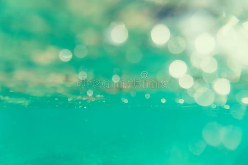 Bokeh light background in the pool. royalty free stock image