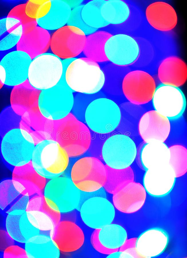 Bokeh of Light. Defocused light with blue background. Bokeh of led light. Defocused light with blue background stock photography
