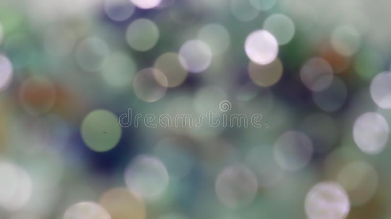 Bokeh of light on glasses background. Dimension sphere blurred royalty free stock photos