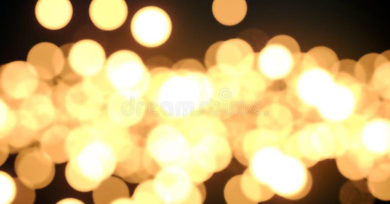 Bokeh lights - 3d render illustration.Glowing lights without focus. Bokeh lights - 3d render illustration. Dark night poster. Glowing lights without focus royalty free illustration