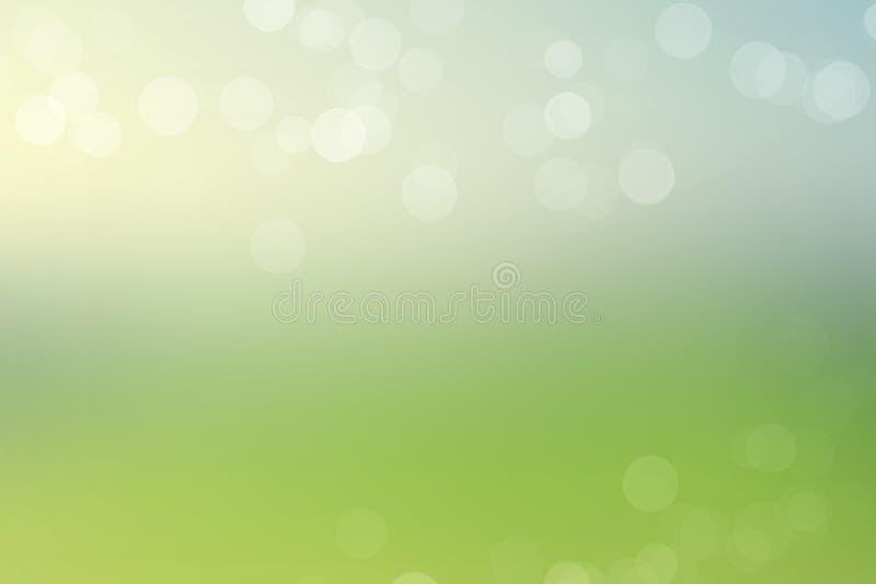 Bokeh lights on green background stock image