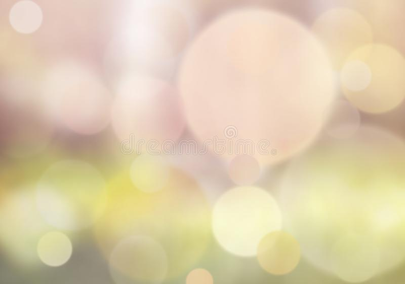 Bokeh lights in light pink and yellow - blur background stock images