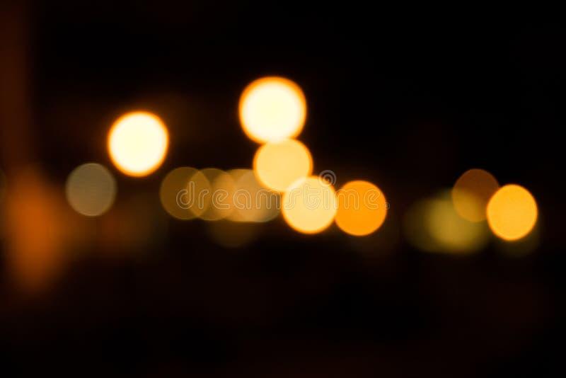 Bokeh lights at night royalty free stock photography